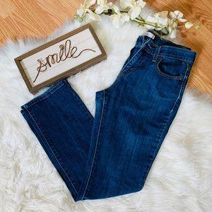 Levi's 505 Straight Leg Blue Jeans Size 4 Short